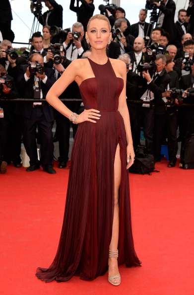 """MAY: Blake Lively in GUCCI attends the Opening ceremony and the """"Grace of Monaco"""" Premiere during the 67th Annual Cannes Film Festival on May 14, 2014 in Cannes, France. (Getty Images)"""