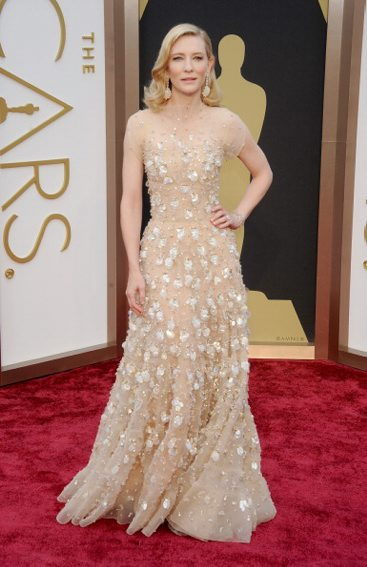 MARCH: Cate Blanchett in ARMANI PRIVE  arrives at the 86th Annual Academy Awards at Hollywood & Highland Center on March 2, 2014 in Hollywood, California (Getty Images)