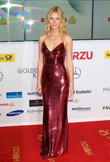 FEBRUARY: Gwyneth Paltrow in PRADA at the Golden Camera Awards in Berlin, Germany,01 Feb 2014. (Rex Features)