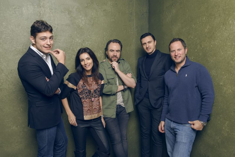 "Actors Toto Dumitrescu, Maria Bata, director/writer Bobby Paunescu, actor/producer Dragos Savulescu and actor David Lipper of ""Pioneers' Palace"" pose for a portrait at the Village at the Lift Presented by McDonald's McCafe during the 2015 Sundance Film Festival in Park City, Utah.  (Larry Busacca/Getty Images)"