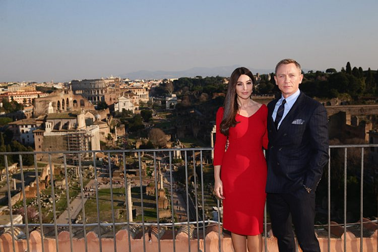 Monica Bellucci and Daniel Craig begin the 24th James Bond adventure SPECTRE filming in Rome (Getty Images)