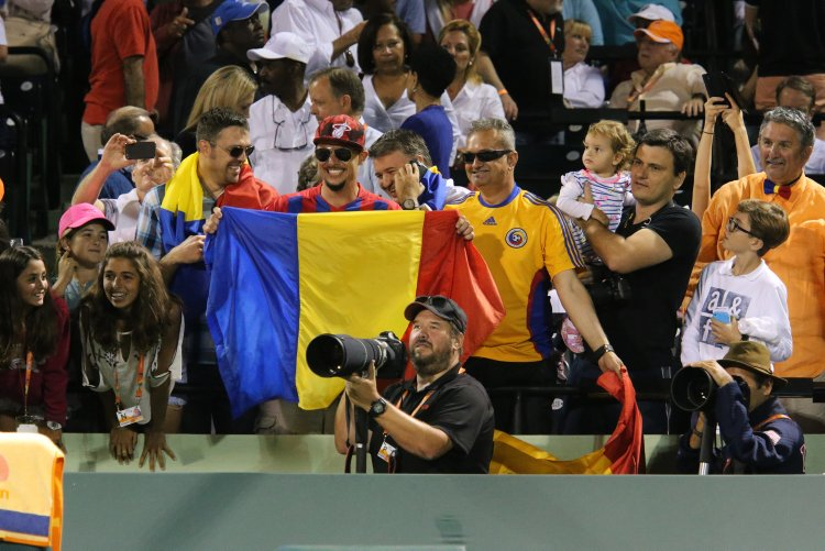 1. Support Simona in Miami. Simona Halep of Romania defeated Sloan Stephens of USA in the Miami Open stadium that was packed with flag-waving Romanians. (Splash News)