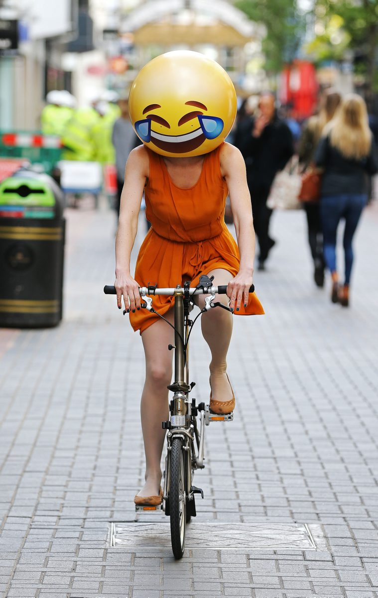 Emoji characters around London, Britain - 19 May 2015